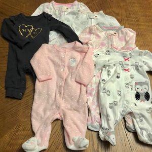 Newborn Carter's and Cloud Island footies